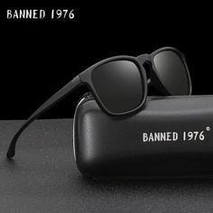 73b25a90da8f8 54mm Fashion Unisex Square Vintage Polarized Sunglasses mens Polaroid Women  Rivets Metal Design Retro Sun glasses