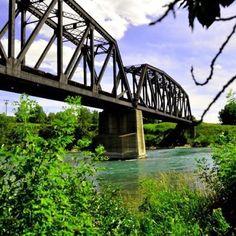 Train bridge in Calgary Alberta.