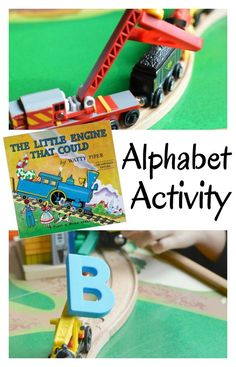 Trains meet letters in this alphabet activity for kids. It pairs great with The Little Engine that Could.