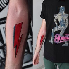 David Bowie Tattoo - think I'd love something like that: David Tattoo, David Bowie Tattoo, Lightening Bolt Tattoo, David Bowie Lightning Bolt, London Ink, Becoming A Tattoo Artist, Sick Tattoo, Under My Skin, Future Tattoos