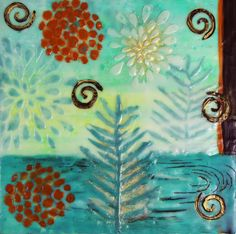 Water landscape, spiral, floral magic