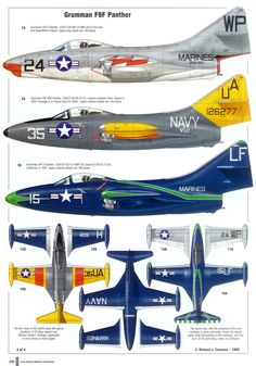 Grumman F9F Panther Aircraft Parts, Fighter Aircraft, Fighter Jets, Military Jets, Military Aircraft, War Jet, Aircraft Painting, Navy Aircraft, Aircraft Design
