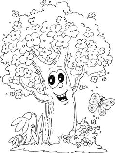 Blossom Tree Coloring Page Tree Coloring Page Spring Coloring Spring Tree Coloring Page Padr. Flower Coloring Sheets, Farm Animal Coloring Pages, Spring Coloring Pages, Tree Coloring Page, Butterfly Coloring Page, Cool Coloring Pages, Free Printable Coloring Pages, Coloring Books, Blossom Tree Tattoo