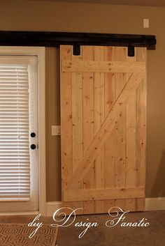 diy Design Fanatic: DIY Barn Doors (with how to make the actual door)