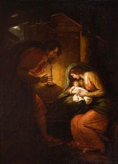 The Nativity (detail), Benjamin West, c. 1796, Memorial Art Gallery, Rochester