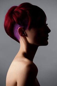 Contrasting colors - short hair undercut. Hair: James Lemke Photo: Cody Rasmussen Make-up: James Lemke Products: Motor22