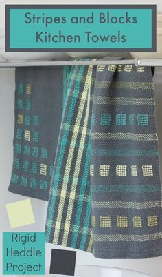 Use an easy inlay technique to weave these towels on your rigid heddle loom! Get the instructions in the Sept/Oct 2014 issue of Handwoven.