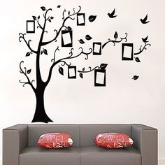 MAARYEE Tree Photos Birds Removable Wall Stickers DIY Decoration Mural Home Decor Vinyl Decals Living Room Kindergarden #Affiliate