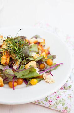 Bietenblad salade met halloumi | simoneskitchen.nl