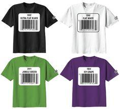 Krylon UPC Label T-Shirt Series by Sket One - Ultra-Flat Black, Flat White, Jungle Green & Icy Grape