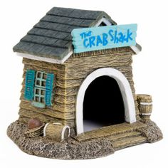 All Living Things® Hermit Crab Crab Shack Aquatic Ornament - Habitat Décor - Habitats & Decor - PetSmart__not a real fan of crabs(as pats) but thought this was cute