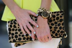 Clare Vivier leopard fold-over ... perfect neutral clutch!