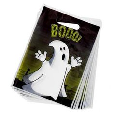 Halloween Party Bags Boo Design 20 Pack - Halloween Party Decorations - Poundland