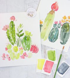 Workshops Succulent Painting Watercolor Paintings Tutorials