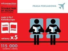 Kampania w prasie pokładowej dla Double Tree by Hilton w Łodzi zrealizowana przez #mconnection