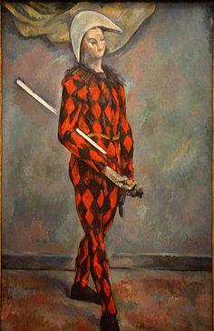 Paul Cézanne: Harlequin, 1888-1890. National Gallery of Art, Washington, DC.
