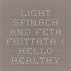 light spinach and feta frittata light spinach and feta frittata ...