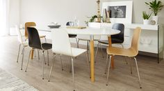 luka furniture extendable oval 6 seater danetti