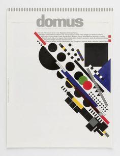 Titelblatt für Zeitschrift    domus (Originaltitel)  Monthly Review of Architecture Interiors Design Art (Untertitel)  1992, Rosmari Tissi