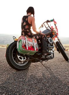 Hippy on a Harley