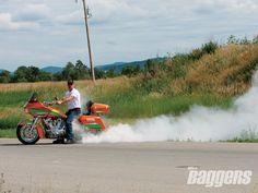 2004 Harley-Davidson Road Glide burnout