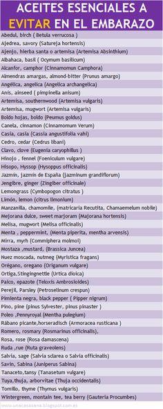 Aceites Esenciales a evitar en el Embarazo - unacasasana.blogspot. com.es