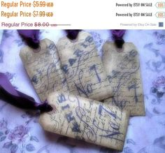 French Inspired Hang Tags  Paris  Purple Black by AlurasStudio