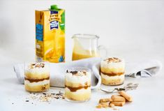 Salted Caramel and Custard Cups   First Choice   First Choice Farm Fresh Milk and Dairy Products Fresh Cream, Fresh Milk, Shortbread Biscuits, Salt Flakes, Golden Syrup, Cookie Crumbs, Chocolate Shavings, Custard, Brown Sugar