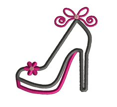High Heel Applique Machine Embroidery Design-INSTANT by SewChaCha
