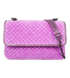 6f69eef691d BOTTEGA VENETA Olimpia Velvet Quilted Shoulder Bag.  bottegaveneta  bags   shoulder bags  velvet