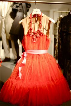 hotred tulle