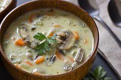 奶油燉飯與蘑菇濃湯