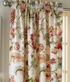 Jacobean Floral Lined Rod Pocket Curtains - Country Curtains®
