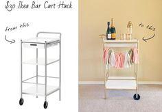 Ikea $30 Bar Cart Hack