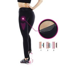 Cellulitereduzierende Leggings Shape Booster DOMYOS - Fitnessbekleidung