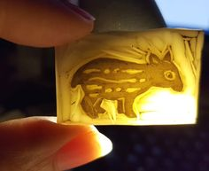babytapir_leuchtet Table Lamp, Decor, Wood Carvings, Stamps, Table Lamps, Decoration, Decorating, Lamp Table, Deco