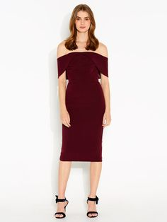 Tash Structured Off Shoulder Dress