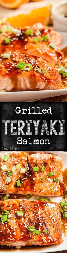 The BEST Teriyaki sauce you'll ever put on any grilled food. Super easy, healthy, tender, and crazy good. #teriyaki #salmon #grilled