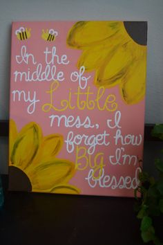 11x14 Big Little Sorority Canvas In the middle of by GettysCrafts