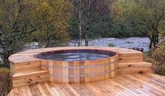 Jacuzzi Hot Tub - I would love to live here with this hot tub and river!
