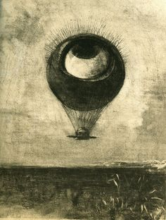 Odilon Redon, Eye-Balloon, 1878