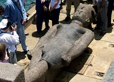 Another giant statue from the lost city of Heracleion, found in the ocean.