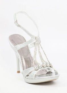 64ee5bcef736 Silver dress shoes with heels and platform (Style