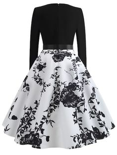 Ribbon Tie Floral Print Flared Dress Source by genevasku Dresses Green Formal Dresses, Cute Prom Dresses, Pretty Dresses, Beautiful Dresses, Short Dresses, Prom Gowns, Dress Long, Homecoming Dresses, Sexy Dresses