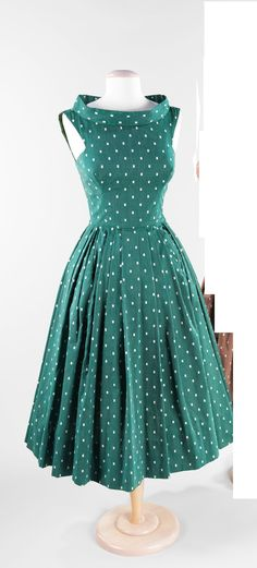 1951 cute polka dots