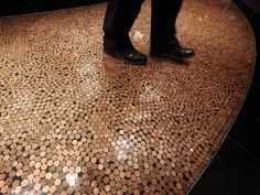 Fußboden Cent Stücke ~ Creative furniture made out of recycled coins design pinterest