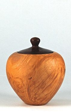 Lidded box turned from Maple Burl with lid by EricReevesWoodturner, $40.00