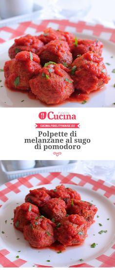 #Polpette di #melanzane al sugo di #pomodoro della nostra utente Giovanna. Unisciti alla nostra Community ed invia le tue ricette!