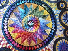 Journey to the Stars by Sue Lawson.  Quilted by Margaret Solomon Gunn.  Pattern by Judy Mathieson.