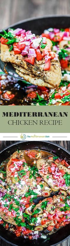 One-Skillet Mediterranean Chicken | The Mediterranean Dish! 15-minutes is all it takes to cook this chicken dinner packed with Mediterranean flavors. See the step-by-step today!